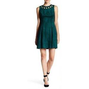 Eliza J Cutout Bi-Stretch Emerald Sheath Dress